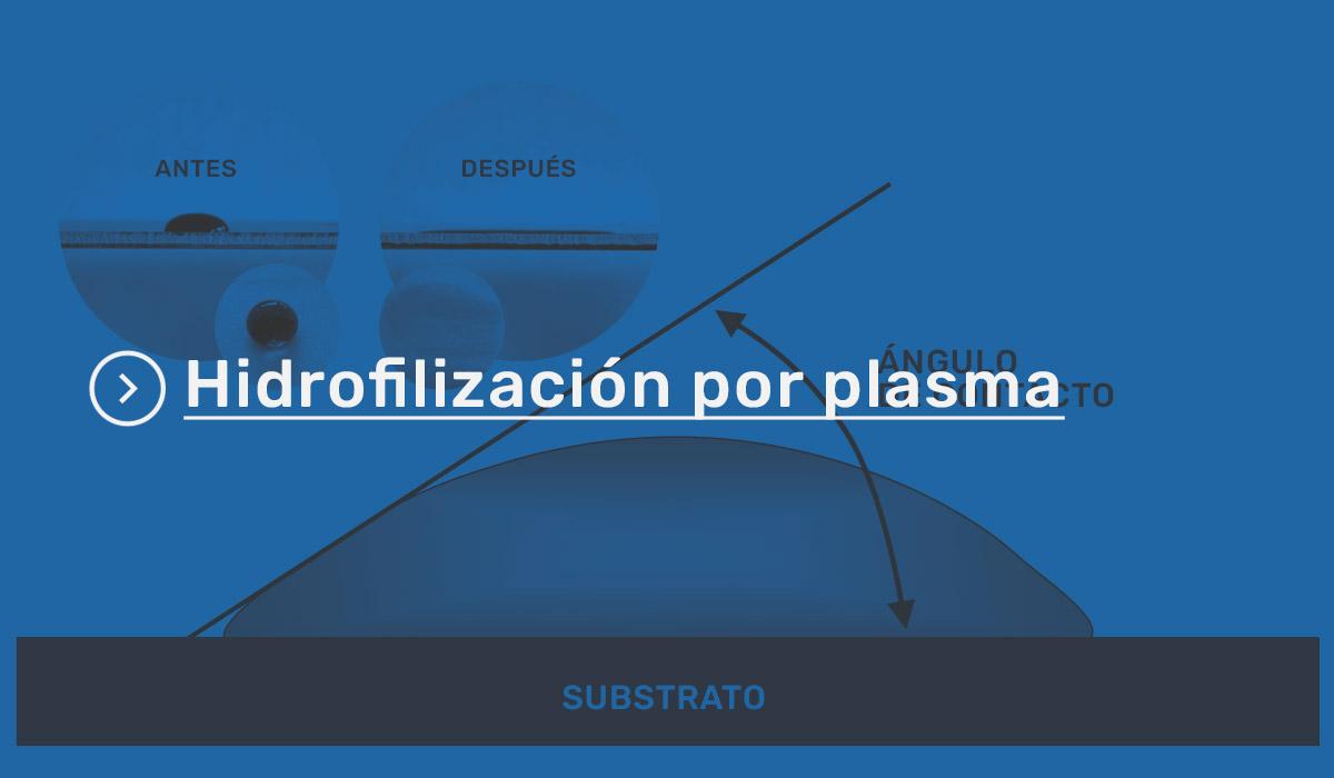 Hidrofilización por plasma